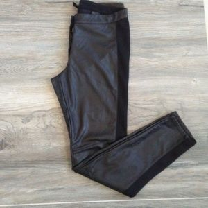 H&M Faux Leather Stretchy Black Skinny Pants